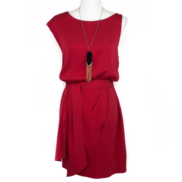 Theory Dresses & Skirts - Theory Brianna Lifestyle Silk Dress in Red